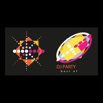 Dj party logo template