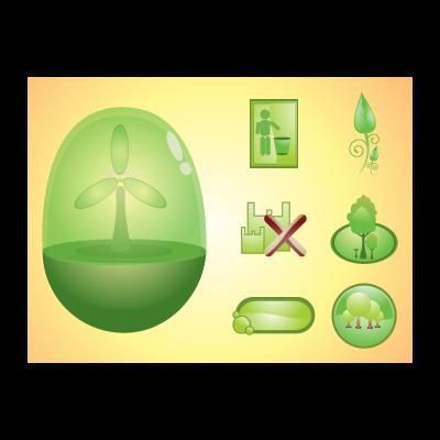 Environment logo template