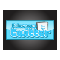 Follow us on twitter logo template