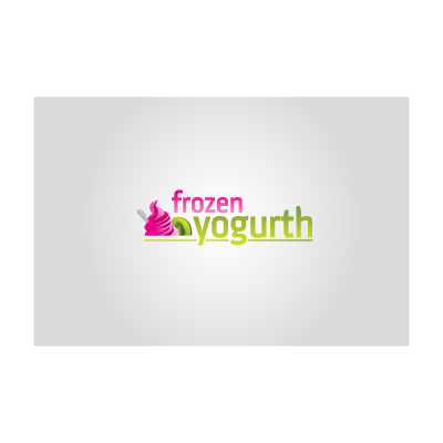 Frozen Yogurt logo template