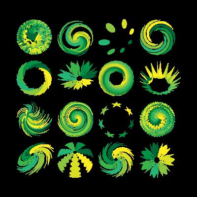 Greenish swirl logo template