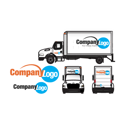 Large trucks logo template
