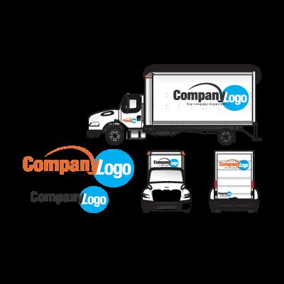 Large trucks logo template