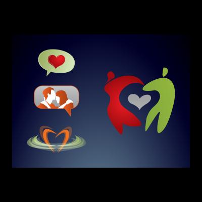 Love couple logo template