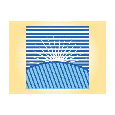 Morning sunrise hill logo template