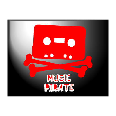 Music piracy logo template