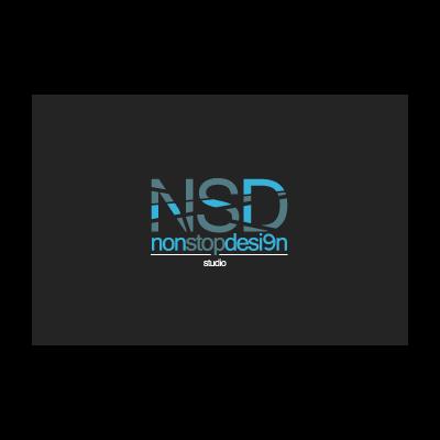 NSD non stop logo template