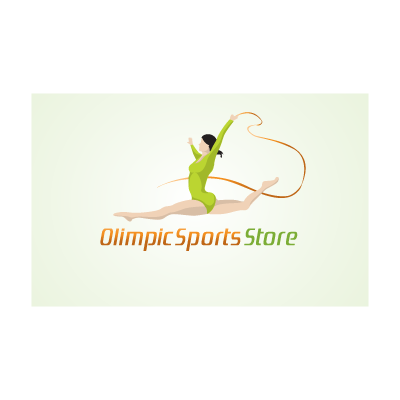 Olympic sports store logo template