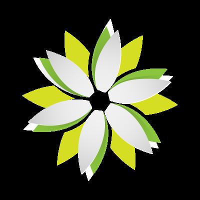 Origami Flower logo template