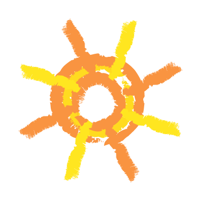 Painted sun logo template