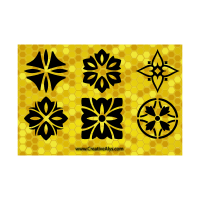 Patterns in yellow logo template