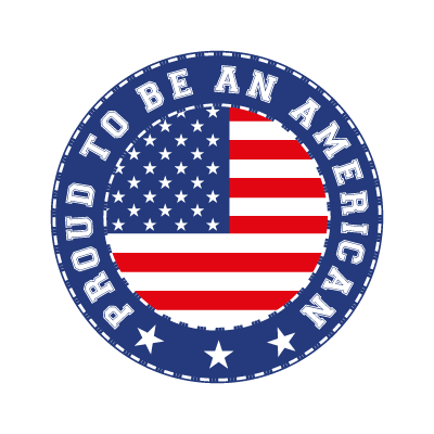 Proud To Be An American logo template