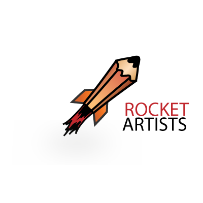 Rocket artists logo template