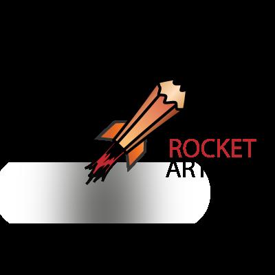 Rocket artists logo template