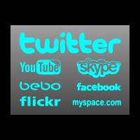 Social media logo template