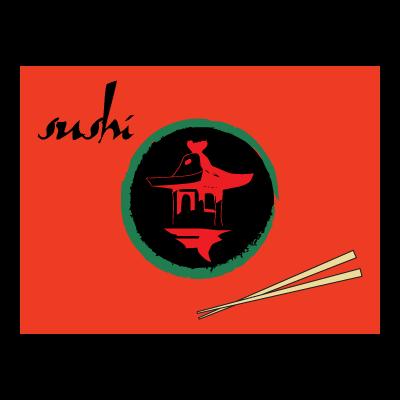 Sushi restaurant logo template