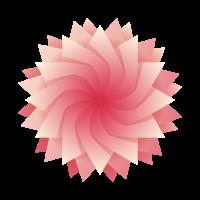 Swirled flower logo template