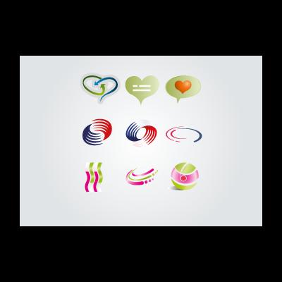 Swirly logo template