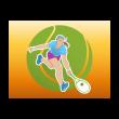 Tennis girl logo template