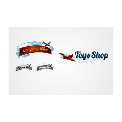 Toy Plane logo template