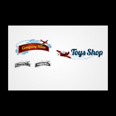 Toy Plane logo template