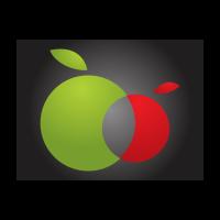 Twin apples logo template
