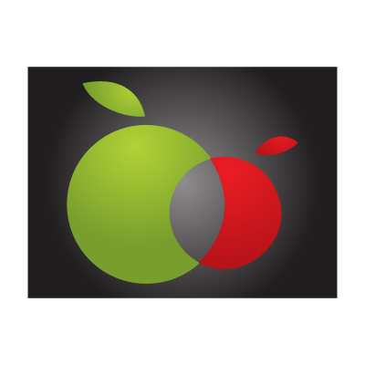 Twin apples logo template