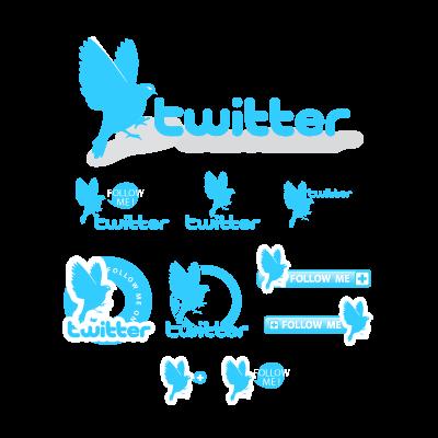 Twitter buttons logo template