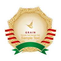 Wheat label logo template