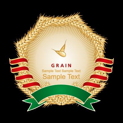 Wheat label logo template