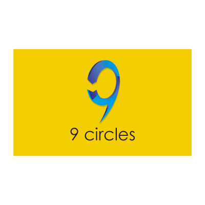 Yellow circle logo template