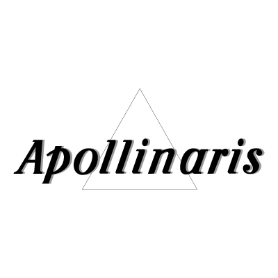 Apollinaris Black logo vector