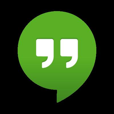Google Hangouts logo vector