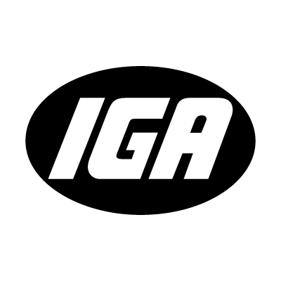 IGA supermarkets vector logo