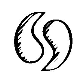 Simplenote sketched social logo outline
