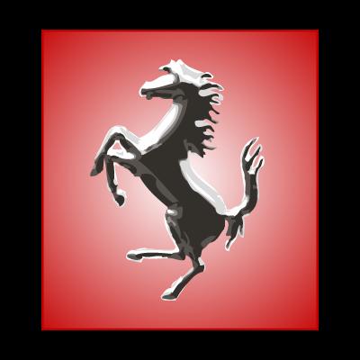 Ferrari Horse Silver logo vector