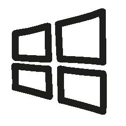 Windows hand drawn logo outline
