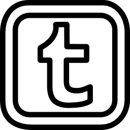 Tumblr letter logo outline in a rounded square