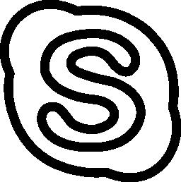 Skype social outlined logo