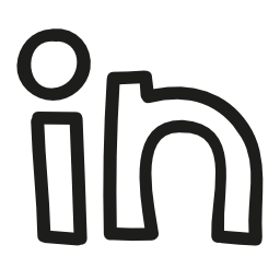 Linkedin Logo Hand Drawn Outline