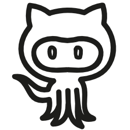 Octocat hand drawn logo outline