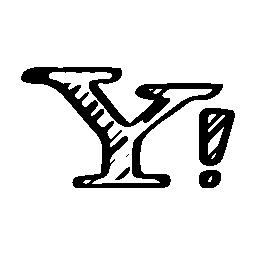 Yahoo sketched logo variant