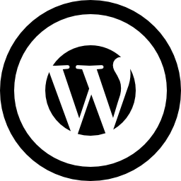 WordPress logo in circular button