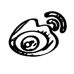 Sina weibo sketched logo