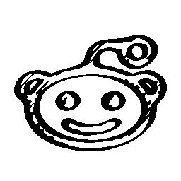 Reddit logo sketch