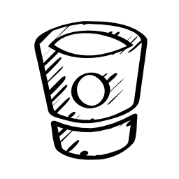 Bitbucket sketched social logo outline