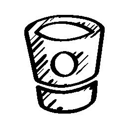 Bitbucket sketched social logo outline