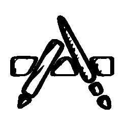 App sketched logo