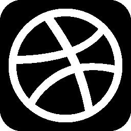 Dribbble social network logotype