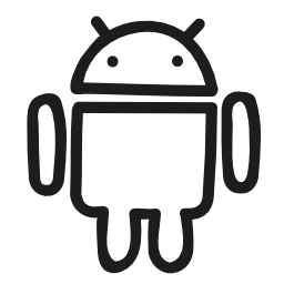 Android hand drawn logo outline